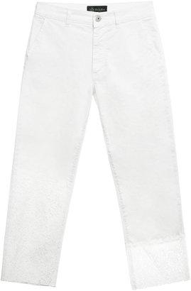 Mr & Mrs Italy White Lace Boyfriend Pants For Woman