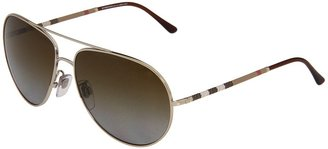 Burberry BE3055 - Polarized (Gold/Brown Gradient Polarized Lens) - Eyewear