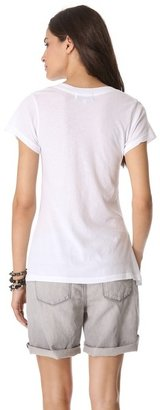 Wildfox Couture Classic V Neck Tee with Shiny Bow