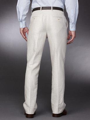 Perry Ellis Big & Tall Linen Cotton Herringbone Pant