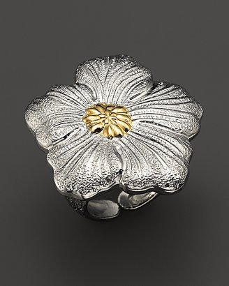 """Buccellati Blossom"""" Medium Flower Ring with Gold Accent"""