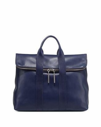 3.1 Phillip Lim Hour Fold-Over Tote Bag, Navy
