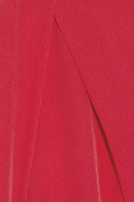 Vanessa Bruno Cropped silk-crepe straight-leg pants