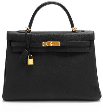 Hermes Heritage Auctions Special Collections 35cm Black Togo Leather Retourne Kelly