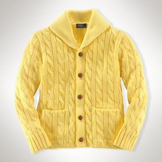 Classic Shawl-Collar Cardigan