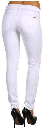 Hudson Nico Super Skinny Mid Rise in White (White) - Apparel
