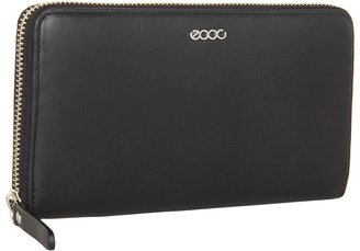 Ecco Valdisere Zip Around Wallet (Black) - Bags and Luggage