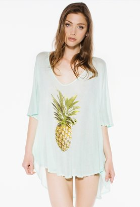 Wildfox Couture Pineapple Tahiti Tunic in Pool Party