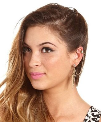 Charlotte Russe Etched Triangle Double Ear Cuff