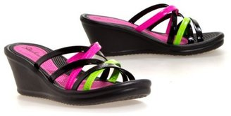 Skechers Women's Rumblers-Time Warp Wedge Sandal