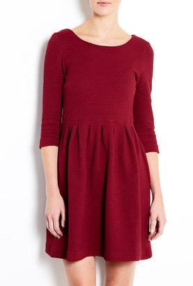 Fulton Ganni Burgundy Textured Cotton Dress