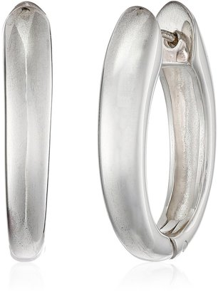 Zina Sterling Silver Contemporary Collection Long Drop Snap Hoop Earrings