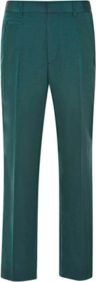 Marc Jacobs Slim Silk-Faille Cropped Pants