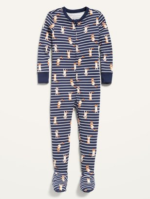 Old Navy Unisex Printed One-Piece Footie Pajamas for Toddler & Baby