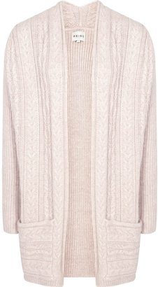 Reiss Riva CABLE KNIT LONG CARDIGAN