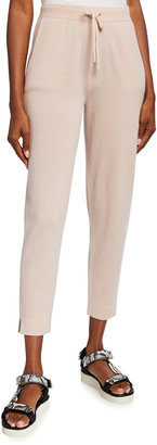 Tse For Neiman Marcus Recycled Cashmere Side-Slit Drawstring Pants