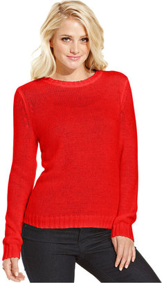 Monroe Marilyn Juniors' Crew-Neck Sweater