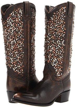 Frye Deborah Studded Tall Cowboy Boots