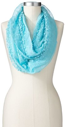 Apt. 9 sequin grid open-worked infinity scarf