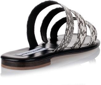 Manolo Blahnik Ontera watersnake sandal