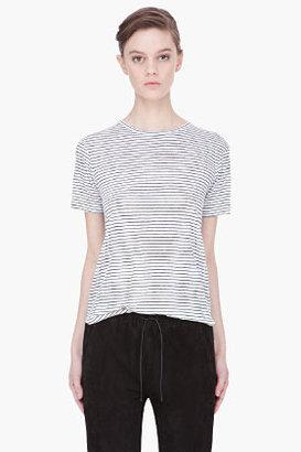 Alexander Wang white combo striped Knit-Back t-shirt