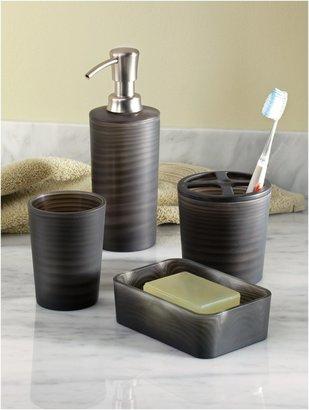 InterDesign Lotus Toothbrush Holder, Black