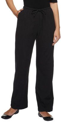 Denim & Co. Regular Classic Waist Drawstring Gauze Pants
