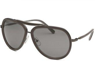 Calvin Klein Women's Aviator Grey Sunglasses