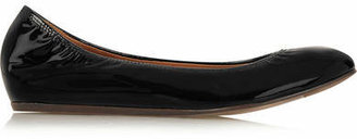 Lanvin - Patent-leather Ballet Flats - Black $495 thestylecure.com