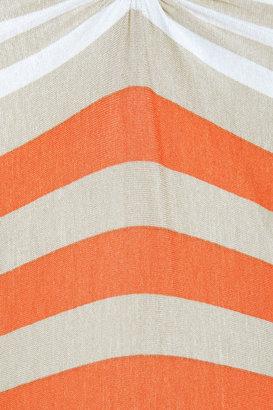 L'Agence Striped stretch-jersey dress