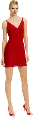 Herve Leger A Rush of Ruby Dress
