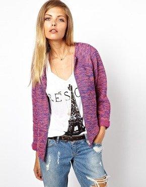 Asos Jacket in Texture with Zip Front - Multi