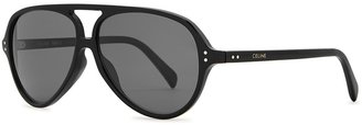 Celine Black Aviator-style Sunglasses