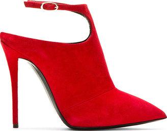Giuseppe Zanotti Red Suede Ankle Strap Yvette Heels