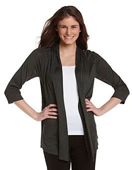 Amy Byer Tab Back Open-Front Cardigan