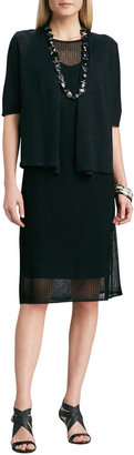 Eileen Fisher Sleeveless Mesh Dress