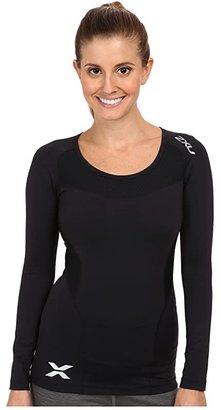 2XU Compression L/S Top (Black/Black) Women's Clothing
