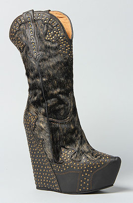 Jeffrey Campbell The Giddy Studded Boot in Black Metallic