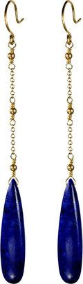 Me & Ro Me&Ro Lapis Chain Drop Earrings
