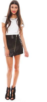 BB Dakota Sebastian Wrap Skirt in Black