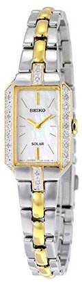 Seiko Women's SUP234 Dress Solar Two-Tone Watch $395 thestylecure.com