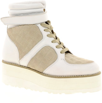 Asos DESIRE Leather Flatform High Top Trainers