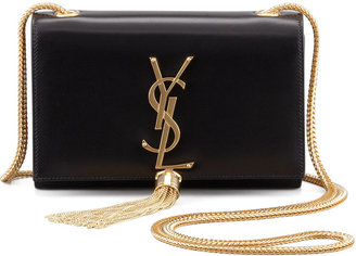 Saint Laurent Cassandre Small Tassel Crossbody Bag, Black