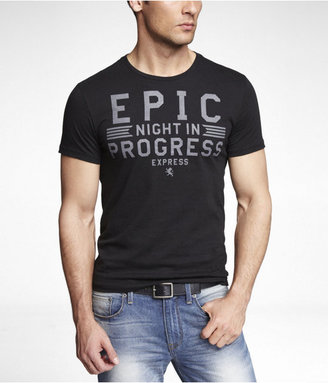Express Fitted Graphic Tee - Epic Night