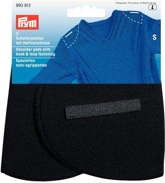 Prym Black Set-In Shoulder Pads With Hook And Loop, Small