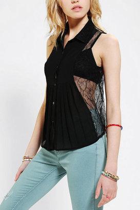 Urban Outfitters Doe & Rae Lace-Back Sleeveless Shirt