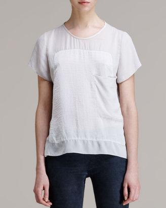 Helmut Lang Soft Shroud Oversize Tunic, White Ash