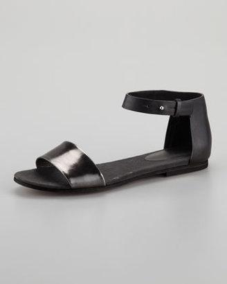 See by Chloe Specchio Cork Flat Sandal, Black