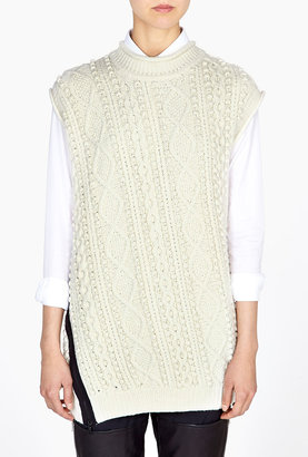 3.1 Phillip Lim Textured Popcorn And Cable Stitch Sleeveless Tunic