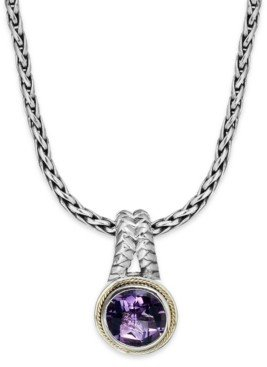 Effy Balissima by Amethyst Round Pendant (3-3/8 ct. t.w.) in 18k Gold and Sterling Silver